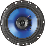 "Q POWER QP650 6.5"" 300 Watt 2-Way Blue Car Speakers Pair"