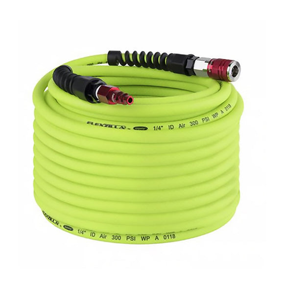 Flexzilla HFZP14100YW2D Pro Air Hose With Colorconnex Coupler & Plug Type D
