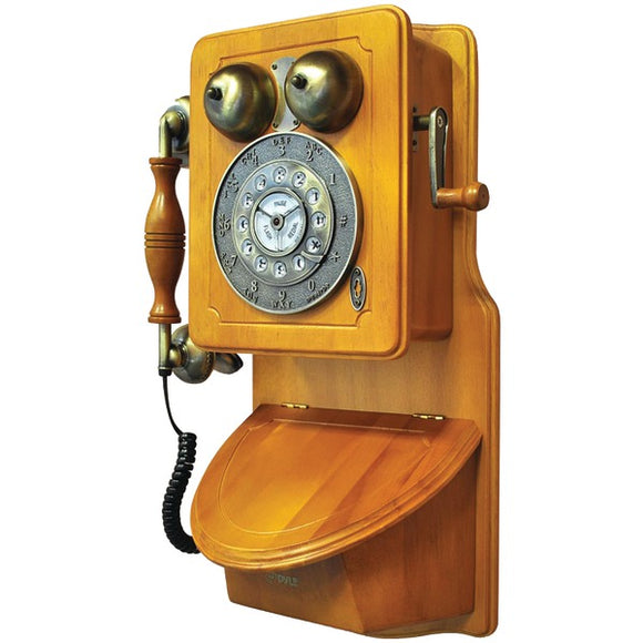 Pyle PRT45 Retro-Themed Country-Style Wall-Mount Phone
