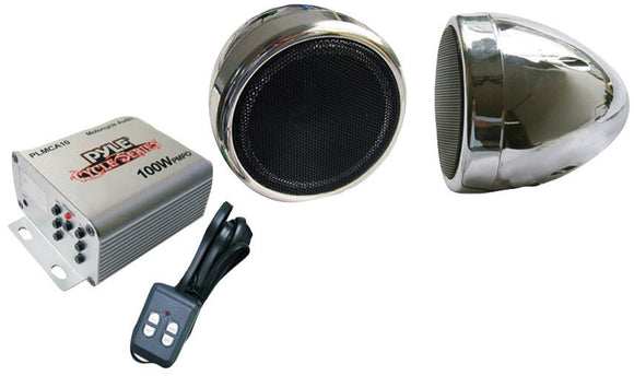 Pyle PLMCA10 Motorcyle Audio Speaker Package