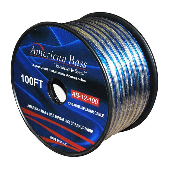 American Bass 12gsp/150 12 Ga 100 Spool Premium Quality Speaker Wire by American Bass