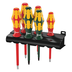 Wera 05347777001 Kraftform Plus 160i/168i/6 Insulated Pro Screwdriver Set 6 pc