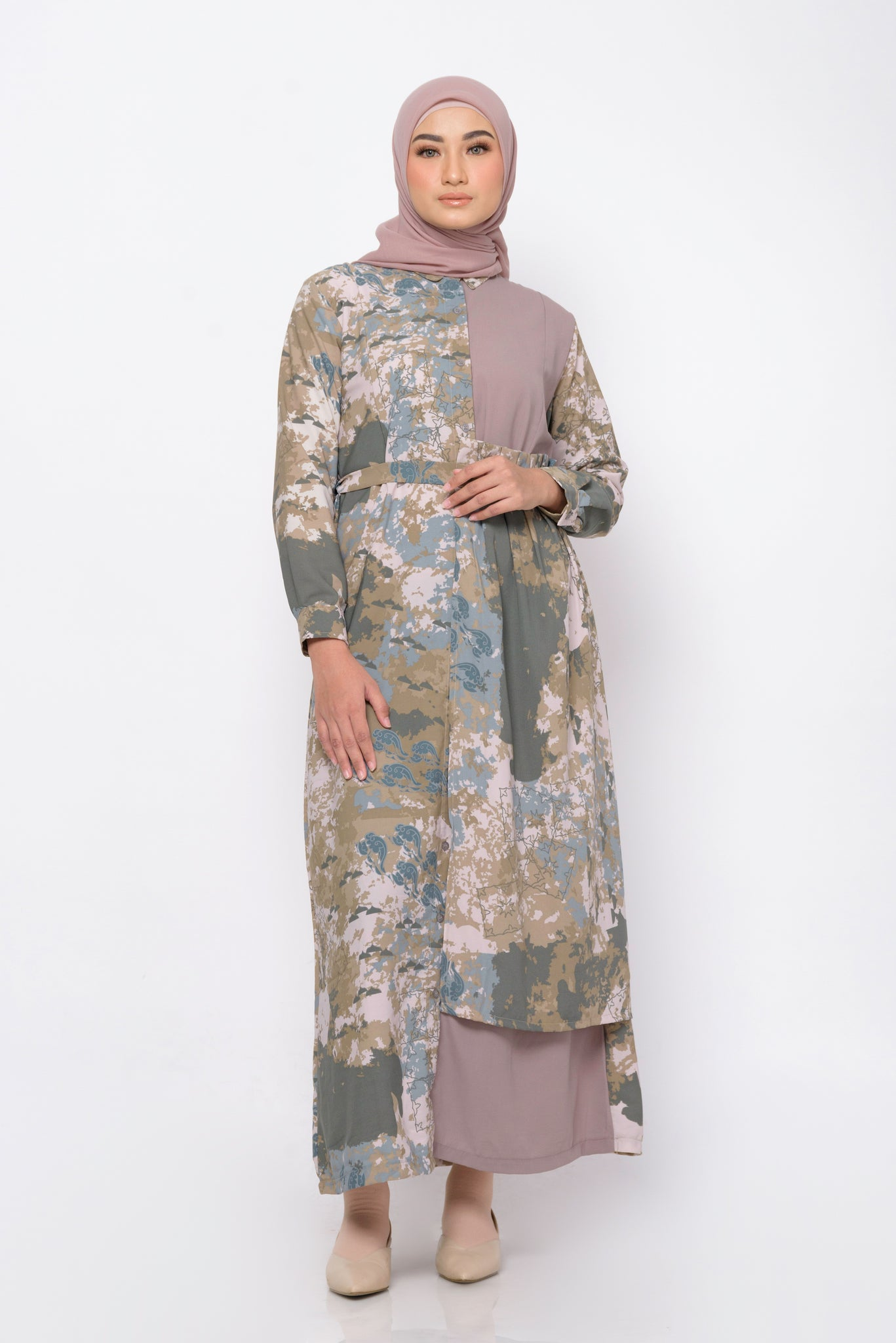 ZM - Haani Brown Dress - Jelita Indonesia - Edisi Lamun Ombak