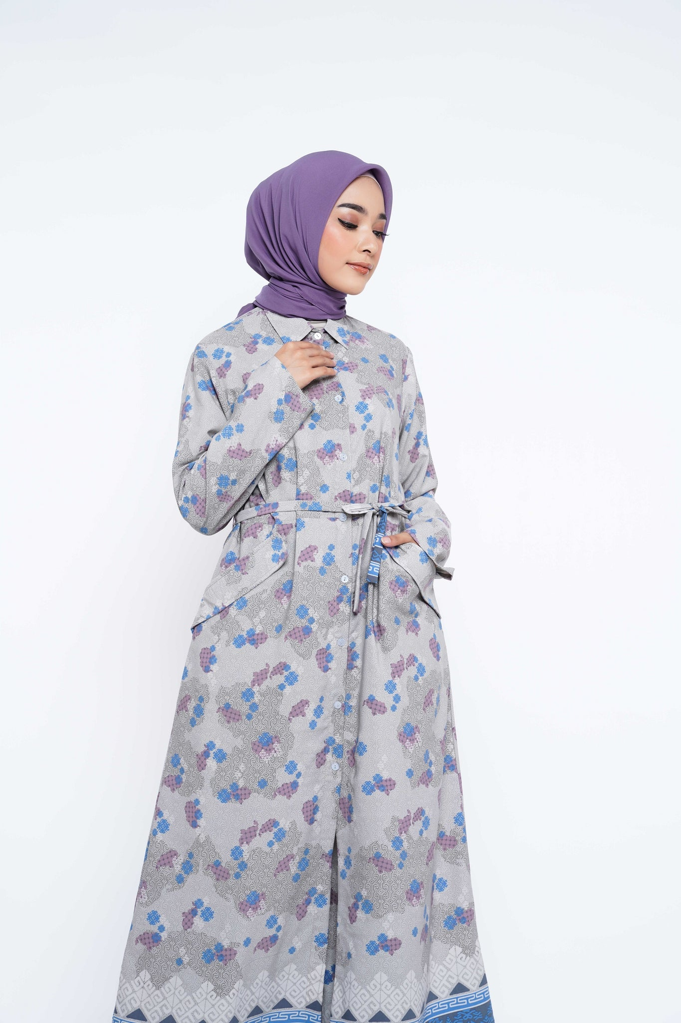 ZM - Halia Grey Dress - Jelita Indonesia - Edisi Makassar