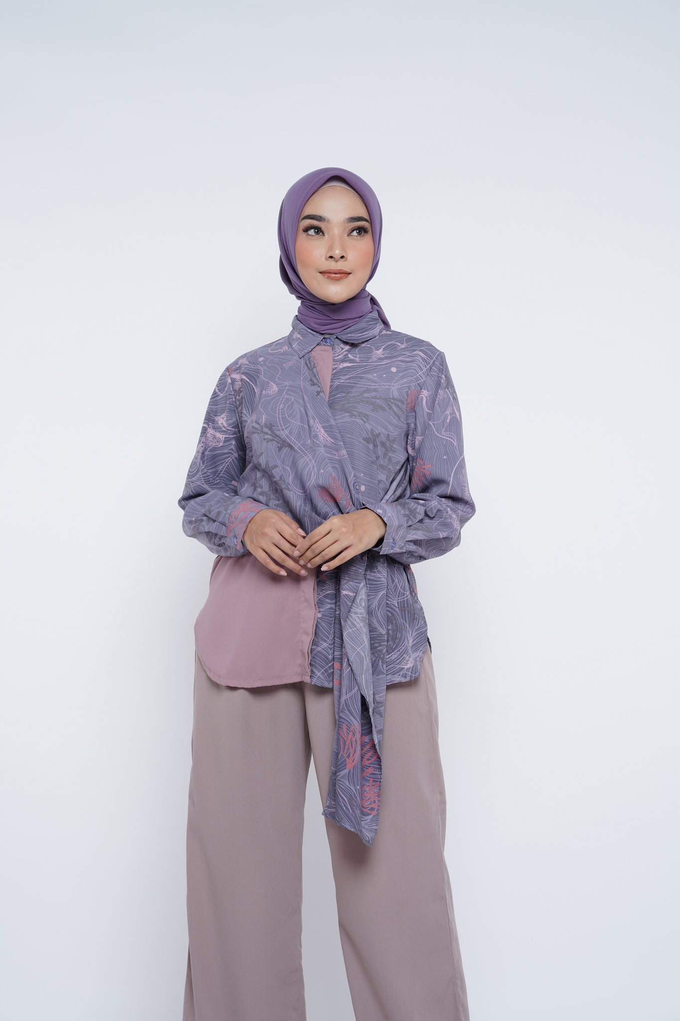 ZM - Izza Purple Tunik - Jelita Indonesia - Edisi Derawan
