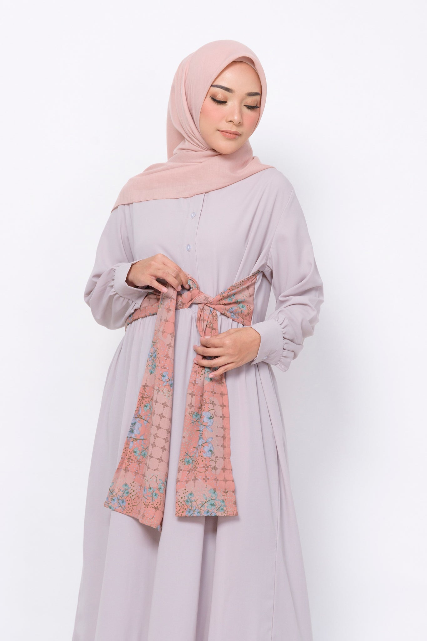 ZM - Kikan Grey Dress - Jelita Indonesia - Edisi Pulau Bangka
