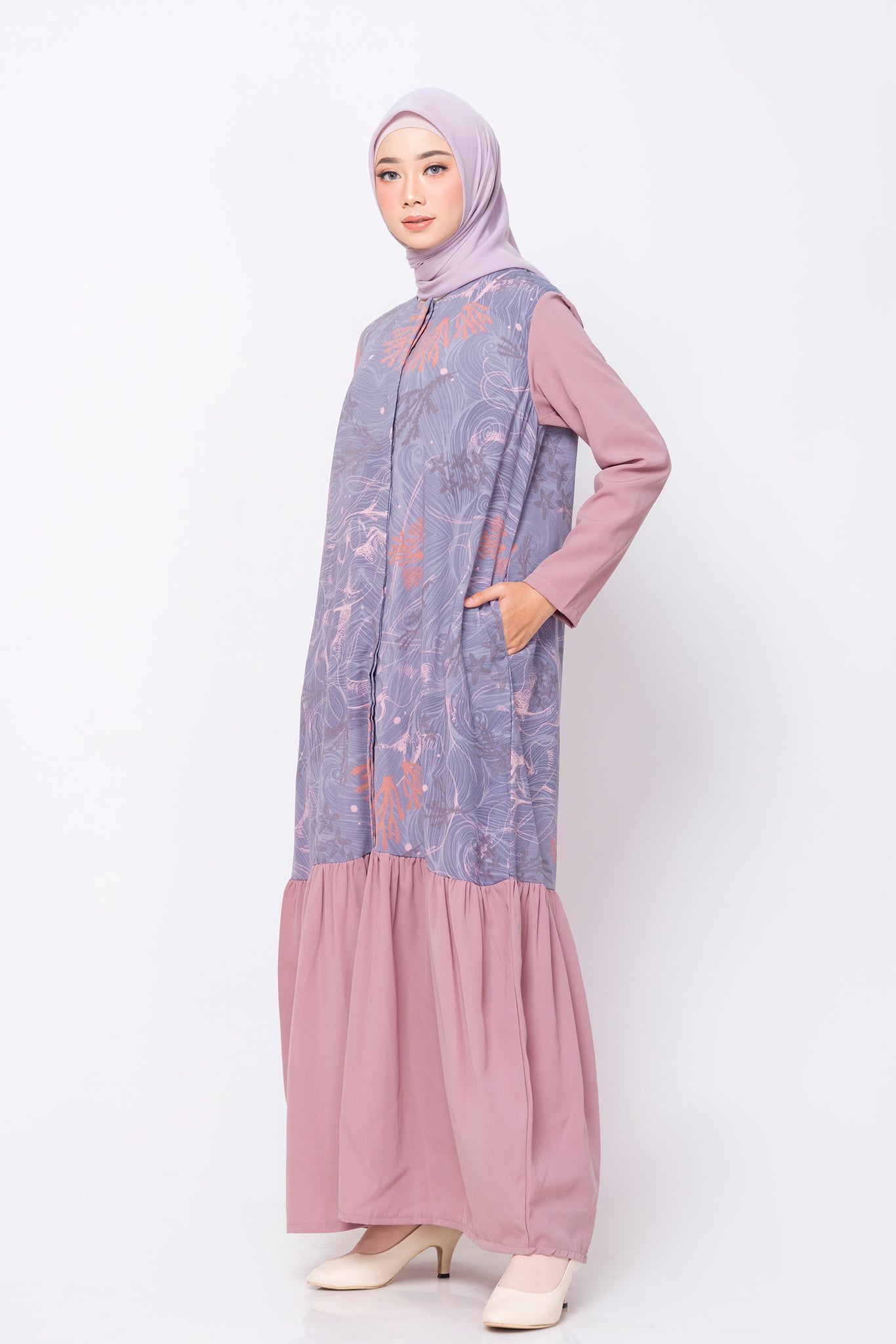 ZM - Laudy Purple Dress - Jelita Indonesia - Edisi Derawan