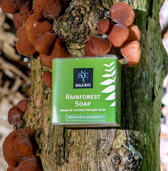 Rain Forest Soap on a tree