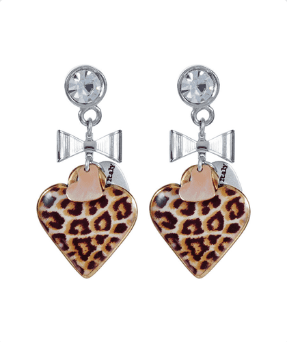 Maiden-Art Leopard Print Drop Earrings
