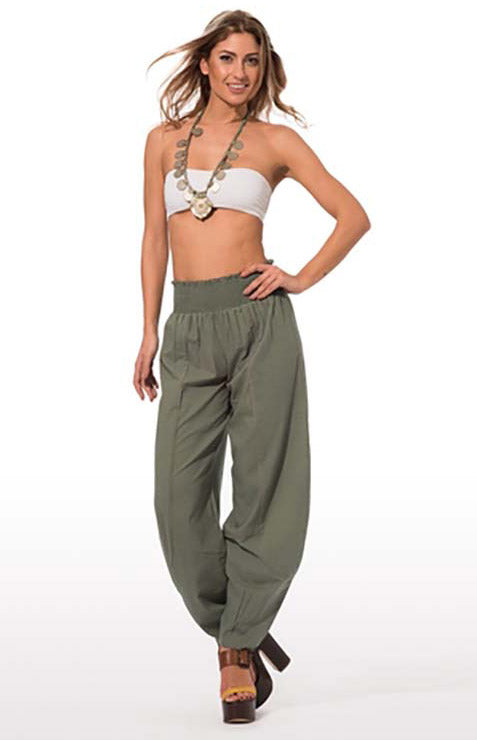 Khaki casual relaxed fit pants