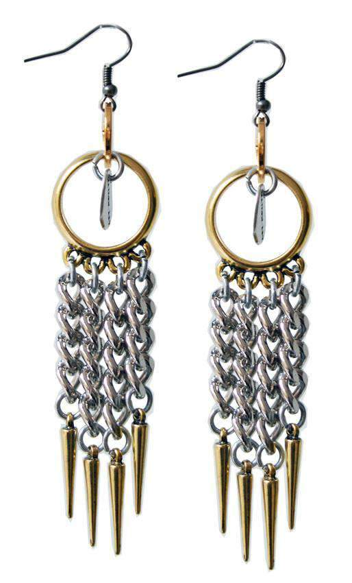 Maiden-Art 18kt Gold Plated and Silver Plated Earrings