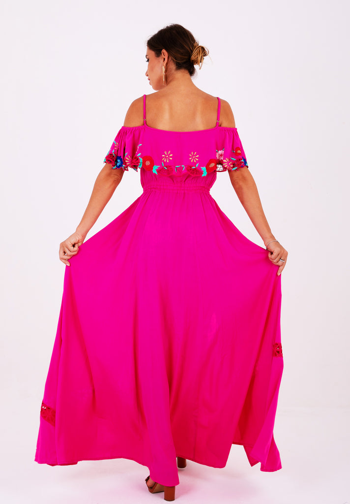 Zaimara Penelope Off The Shoulder Maxi Dress