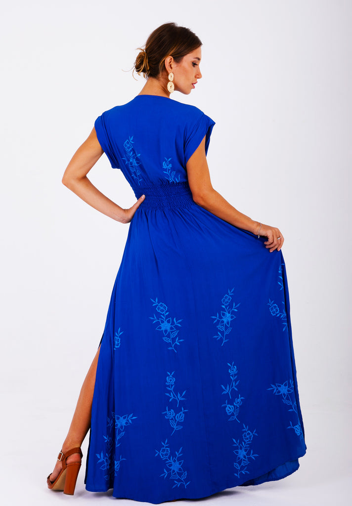 Zaimara Royal Blue Maxi Dress