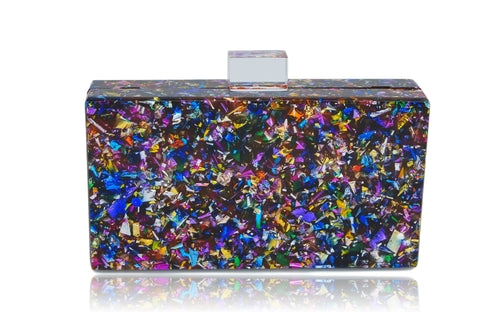Multi-colored box clutch