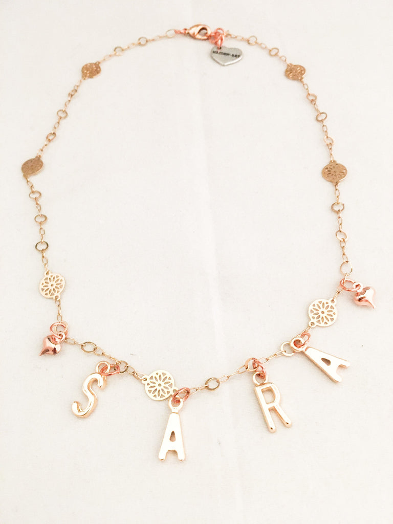 Maiden-Art Gold Personalized Letter Necklace
