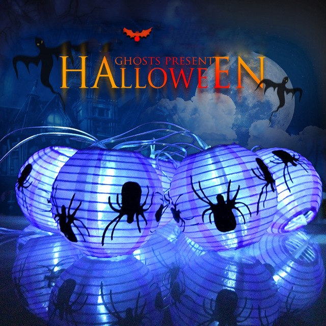 220cm Spider String Lights Halloween Decoration