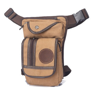 Men's Compact Canvas Crossbody Bag