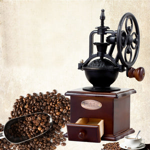 Wooden Manual Coffee Grinder with Ferris Wheel