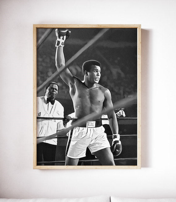 Muhammad Ali Poster Cassius Clay Art Boxing Canvas