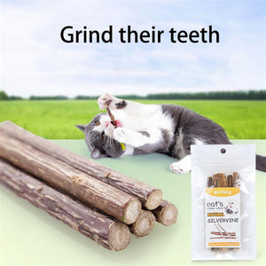 5pcs Pet Cat Chew Stick Clean Kitty Teeth Chewing