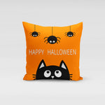 Cat Happy Halloween Pillow Cover