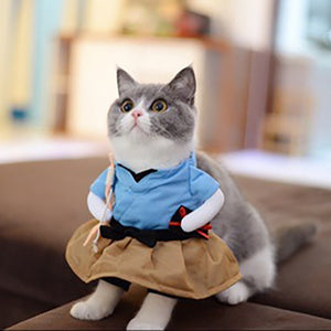 Funny Dog Cat   Urashima Taro Cosplay Suit