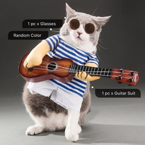 Guitar Playing Cat Costume