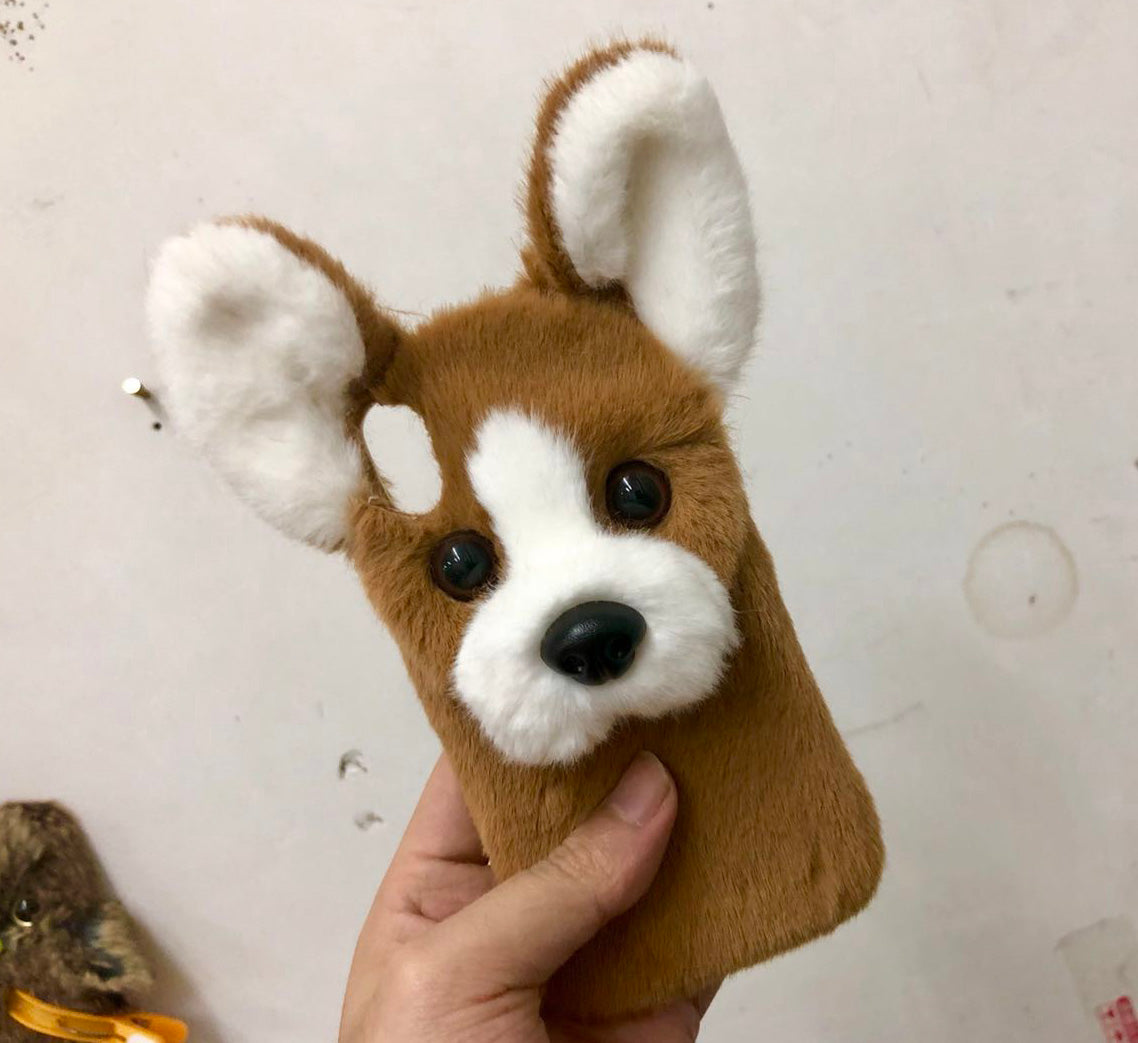 Cute Dog Hand Made Mobile Cover For I Phone