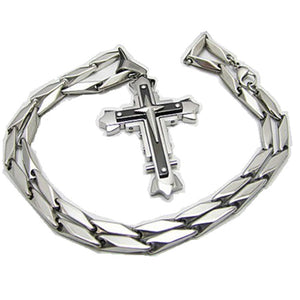 Dark Knight Double Cross Pendant for Men