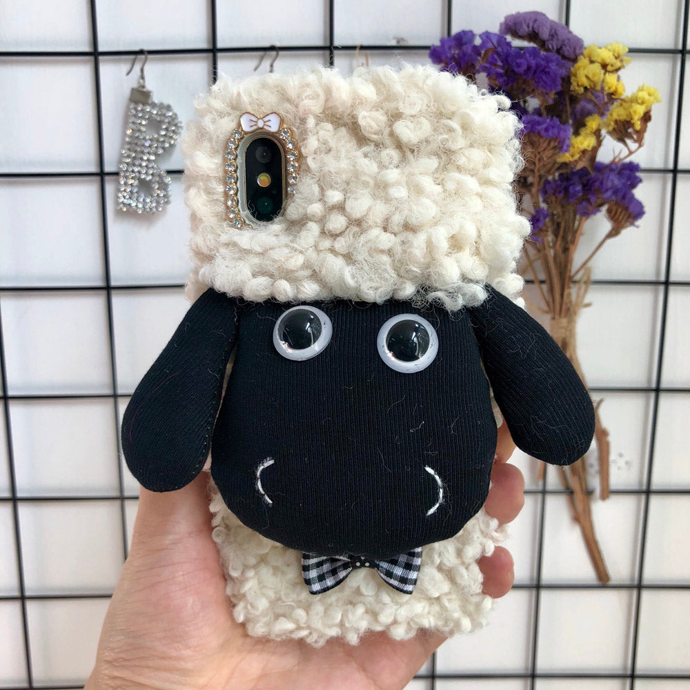 Cute Sheep Hand Made Mobile Phone Covers (for i Phone)