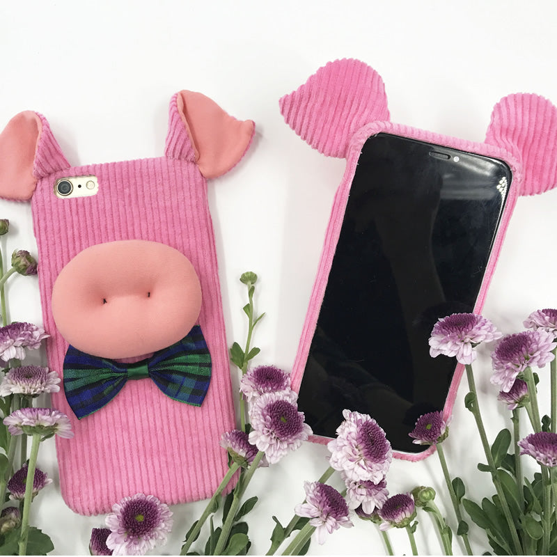Cute Pig (Hand Made Mobile Covers For Iphone)