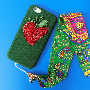 Strawberry (Hand Made Mobile Phone Covers For IPhone)
