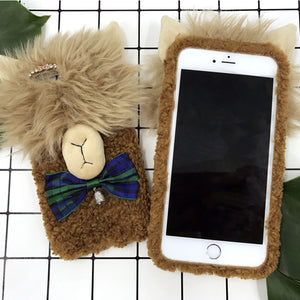 Grass mud Horse Hand Made Mobile Cover (For Iphone)