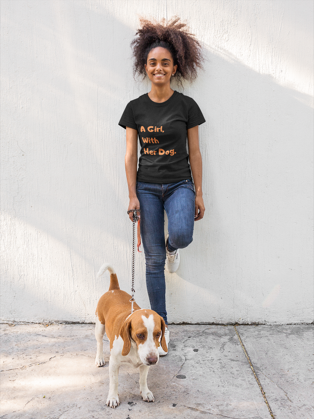 """A Girl With Her Dog"" T-Shirt"