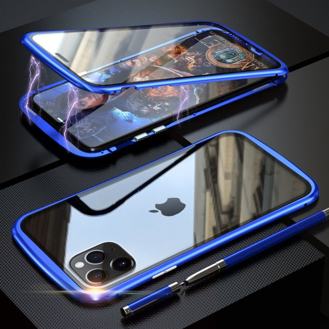 Dual Side Magnetic Tempered Glass Phone Case For iPhone11 / iPhone11Pro / iPhone11Pro Max