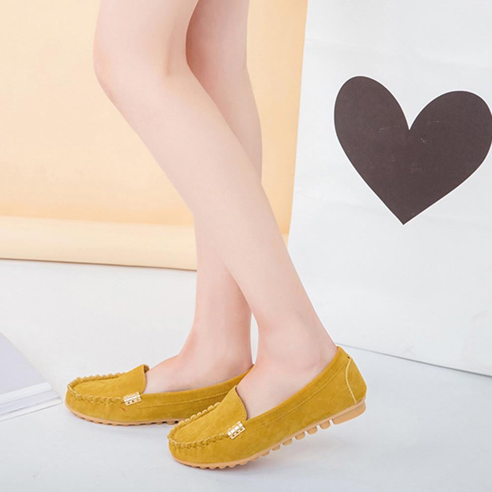 Candy Color Shoes Spring Autumn Cute Slip on -  AboutTheSHOES