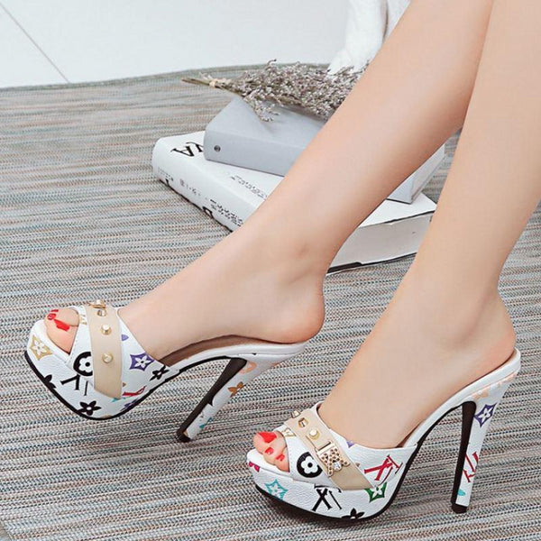 Women Shoes Bowtie High Heel Sandals Heeled Slippers -  AboutTheSHOES
