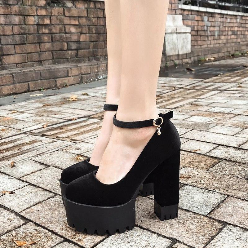 Platform Women Pumps Thick High Heels Shoes -  AboutTheSHOES