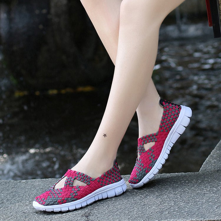 Summer Sneakers Mixed Color Flats Breathable Casual Shoes Loafers -  AboutTheSHOES