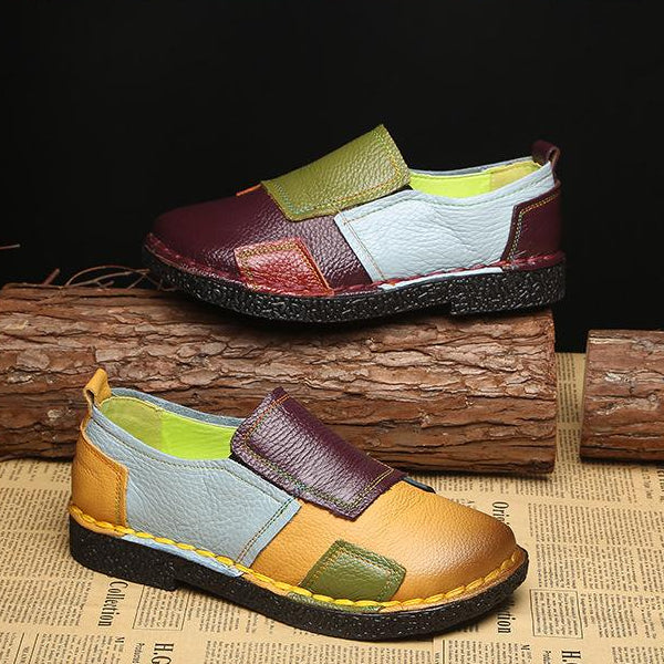 Loafers Women Mixed Colors Casual Women Flats -  AboutTheSHOES