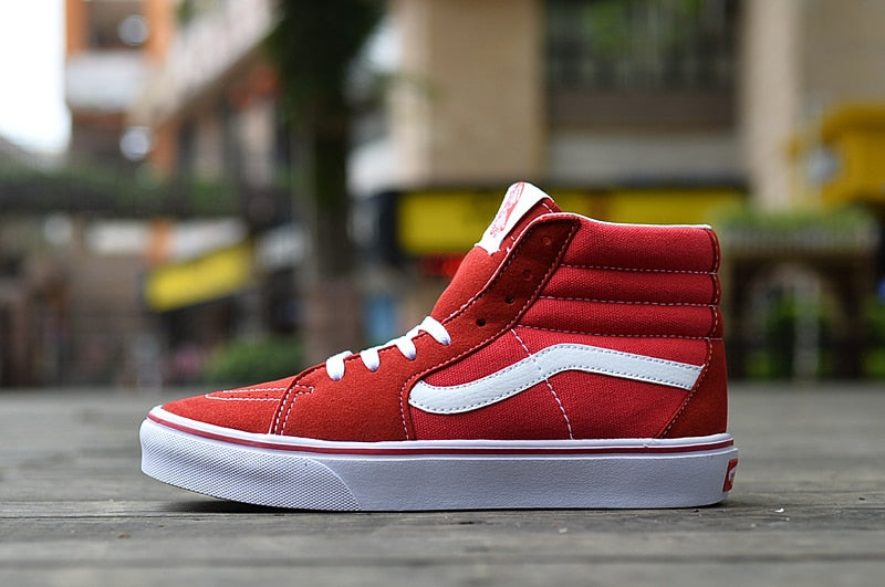 VANS OLD SKOOL classic red and white high and low -  AboutTheSHOES