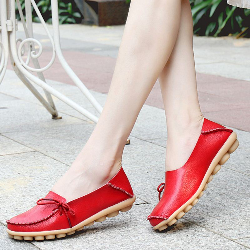 Women Flat Slip On Loafers Comfy Ballet Moccasins -  AboutTheSHOES