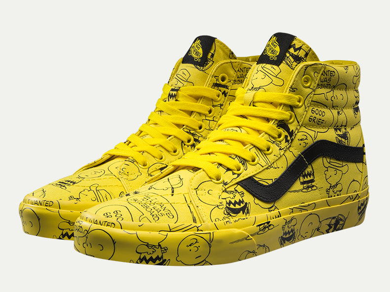 Vans Classic Skateboarding Unisex High-top Sneakers PEANUTS Snoopy Cartoon Athletic -  AboutTheSHOES