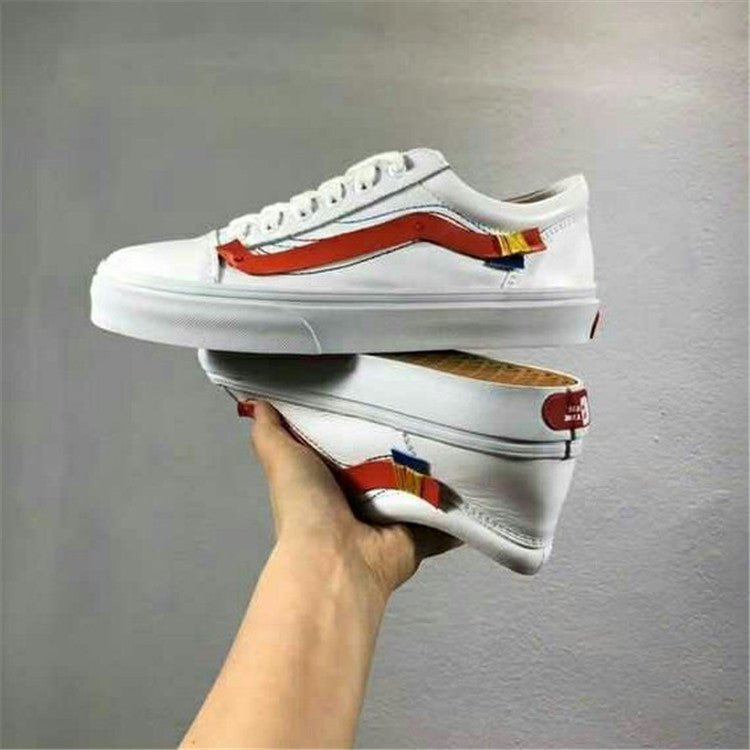 Off-white X Vans OId Skool Men And Womens Sneakers Canvas Sports Shoes Virgil Abioh -  AboutTheSHOES