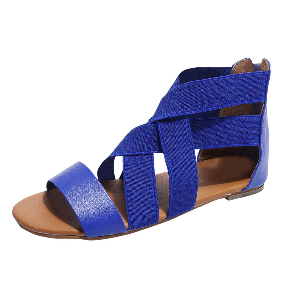 Roman style eep-Toe Outdoor Womam Sandals -  AboutTheSHOES