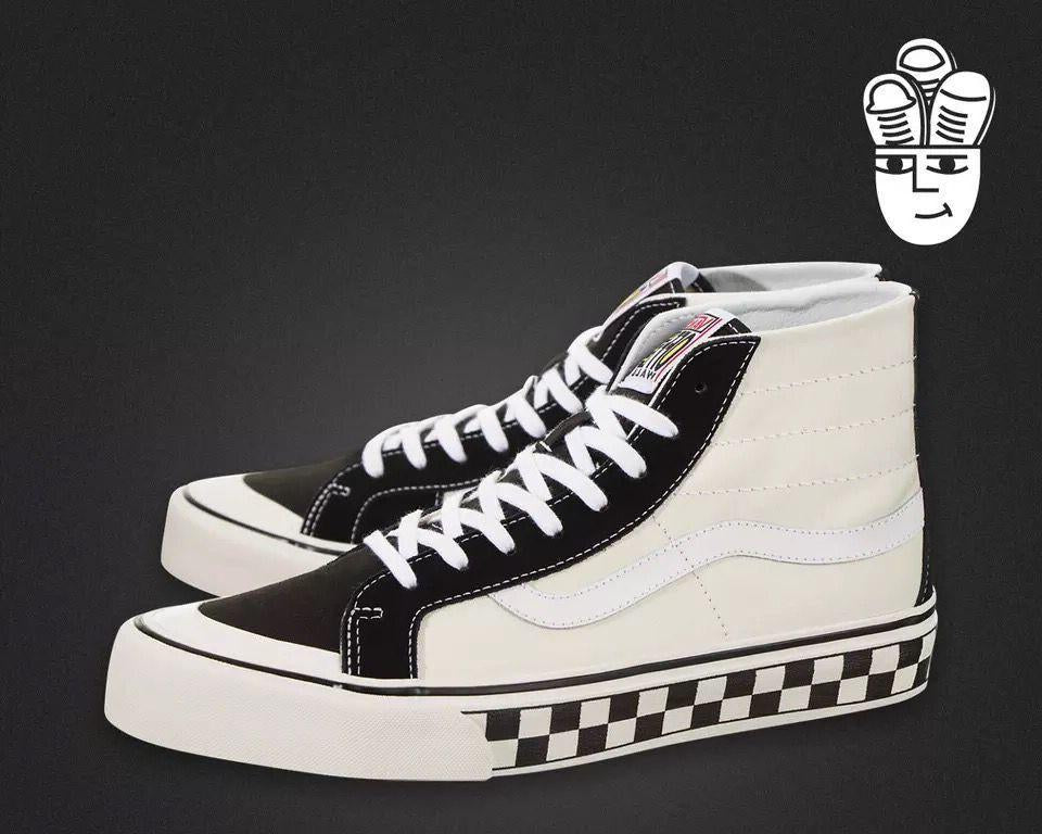 Vans Skateboarding Shoes SK8 HI DECON CHECKERBOARD -  AboutTheSHOES