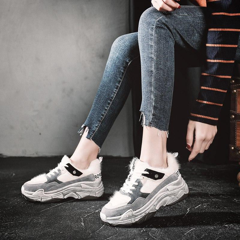 Shoes Woman Height Increasing 6.5 CM Chunky Sneakers -  AboutTheSHOES