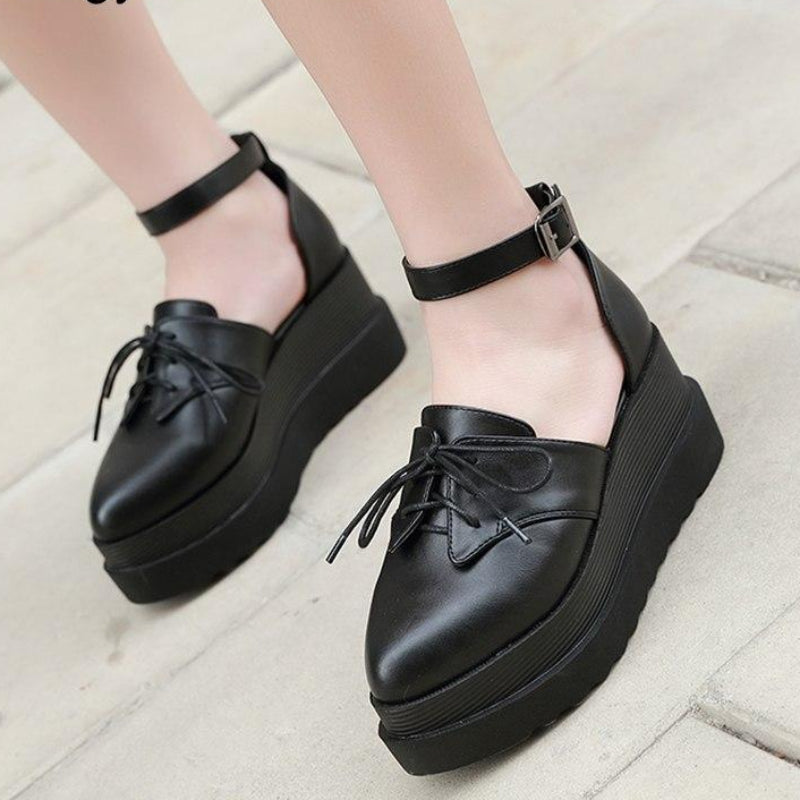 Pointed Toe Pumps Casual Shoes Platform Wedges -  AboutTheSHOES