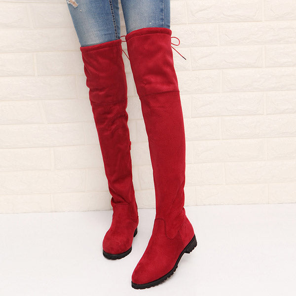 Slim Sexy Over The Knee High Suede Snow Boots -  AboutTheSHOES