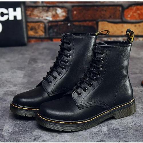 Fall Genuine Leather Lace Up Ankle Boots -  AboutTheSHOES